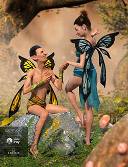 Nocturnal Fay Wings for Genesis Male(s) & Female(s)
