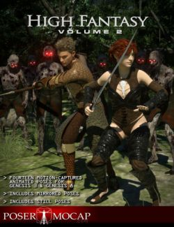 High Fantasy Volume 2- Fantasy Animations for Genesis 3 and 8