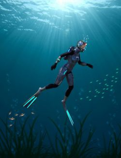 Deep Sea 6 Dive Suit for Genesis 8 Male(s) and Female(s)
