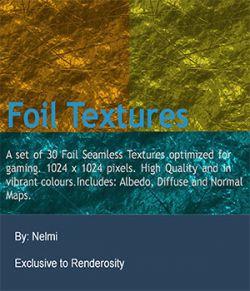 30 Aluminum Foil Seamless Textures