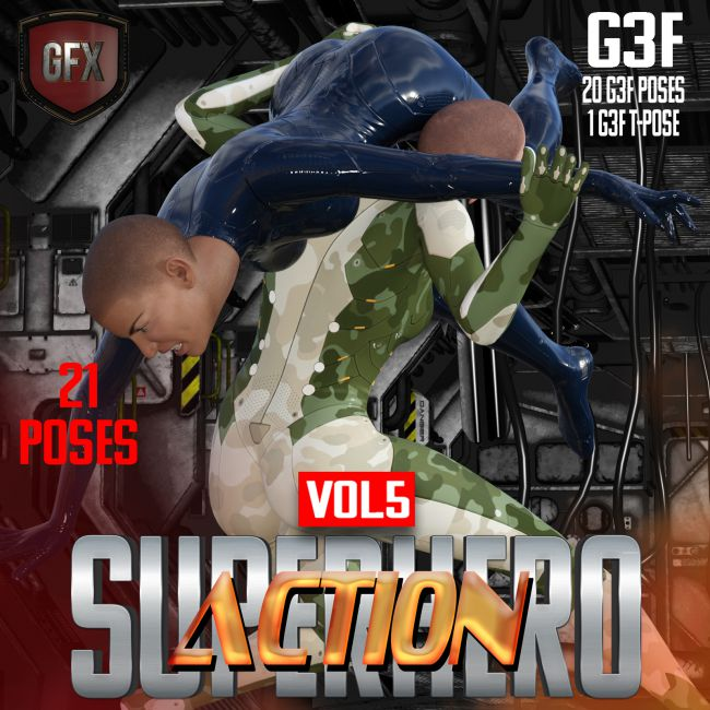 SuperHero Action for G3F Volume 5