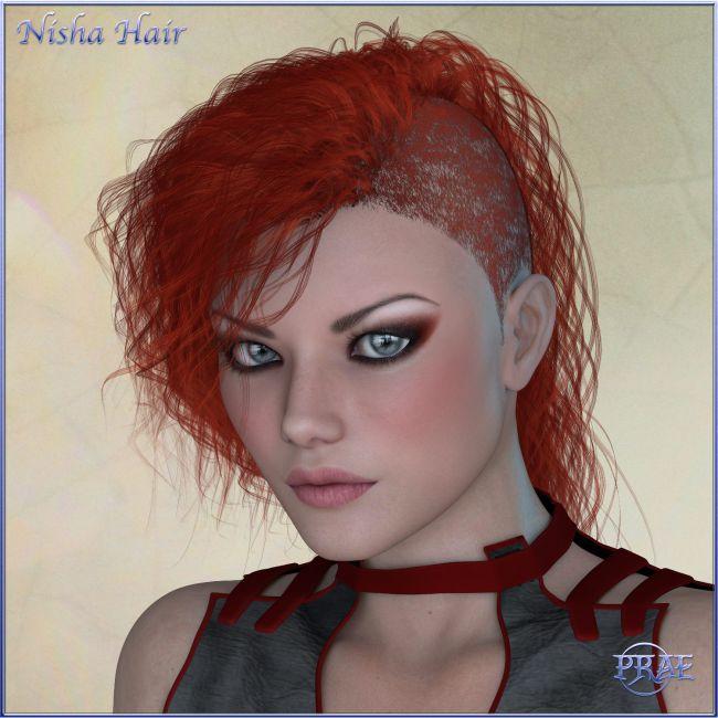 Prae-Nisha Hair For V4 Poser