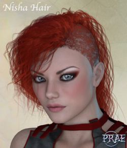 Prae-Nisha Hair For V4 Poser