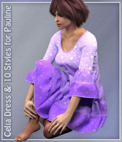 Pauline Celia Dress and 10 styles for Poser
