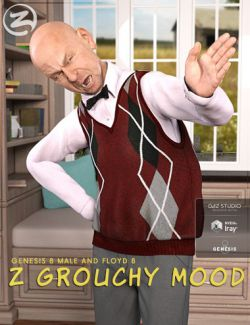 Z Grouchy Mood- Poses and Expressions for Floyd 8 and Genesis 8 Male