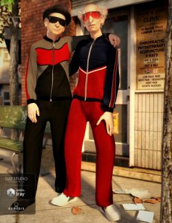 dForce Tracksuit Outfit Textures