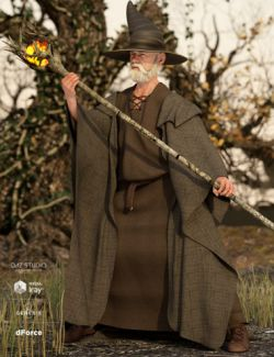 dForce Wizard Lore Outfit for Genesis 8 Male(s)