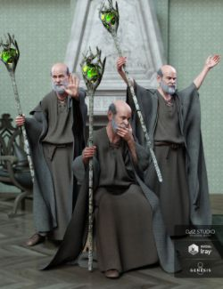 Wizard Lore Poses for Genesis 8 Male and Floyd 8