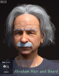 Abraham Hair and Mustache for Genesis 8 Male(s)