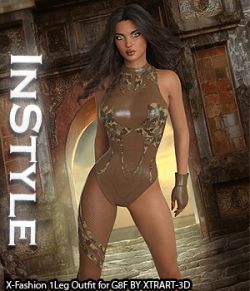 InStyle- X-Fashion 1Leg Outfit for Genesis 8 Females