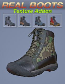 S3D Real Boots for Genesis 8 Texture Add-on