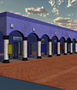 Boardwalk Building 01 for Poser 7