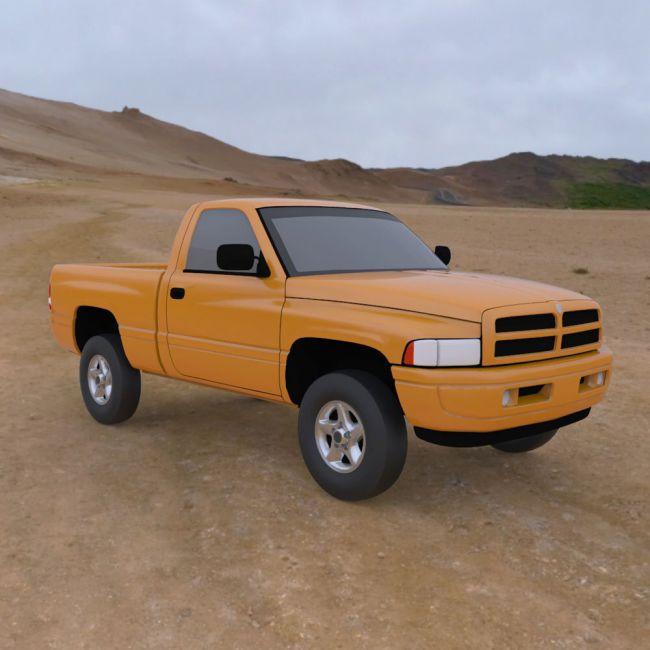 Dodge Ram Pickup 1997 - 3ds/ obj - Extended License