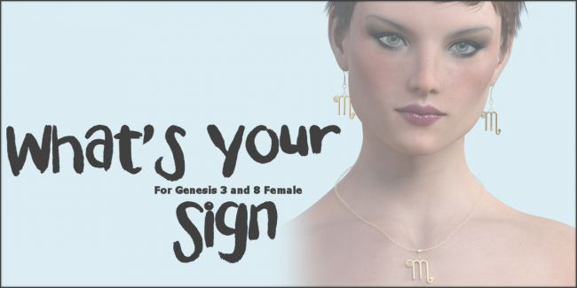 What's Your Sign G3 G8 DAZ