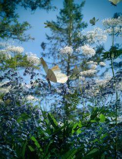 Woodland Wild Flower Plants for Daz Studio