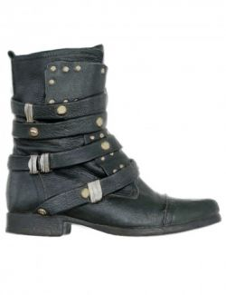 OBJ- Gothic Leather Buckles Boots