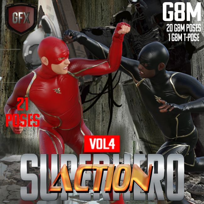 SuperHero Action for G8M Volume 4