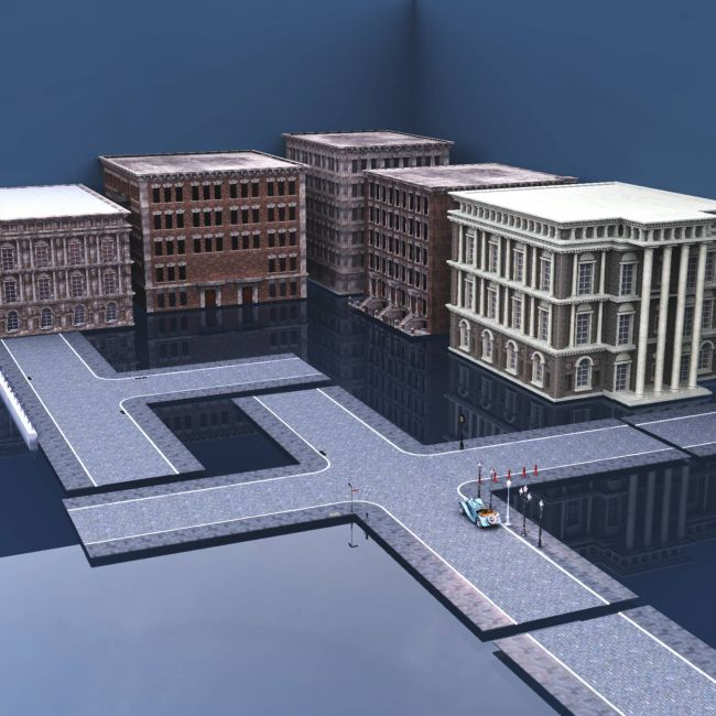 Northern European Streets Kit For Vue
