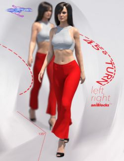 Quick Turn Walk Cycle Add On for Genesis 8 Female(s)