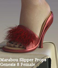Marabou Slipper for Genesis 8 Female