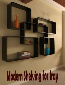 Modern Shelving for Iray