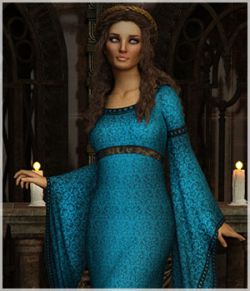 Feminine For dForce Camilla Medieval Gown