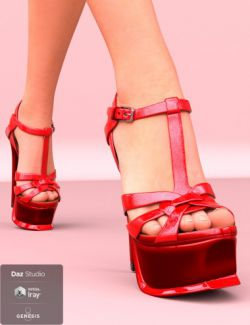 Elin Sandals for Genesis 8 Female(s)
