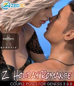 Z Holiday Romance- Couple Poses for Genesis 3 and 8