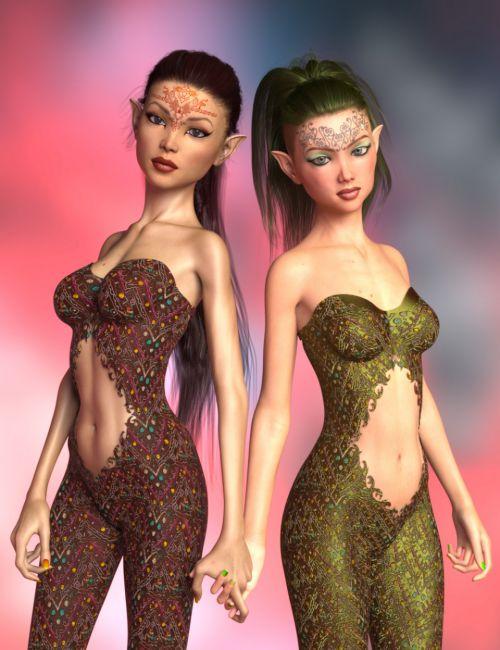 Breena, Ella and Bodysuit for Genesis 8 Female