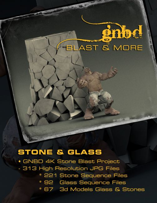 GNBD Stone & Glass 4K Project & 3d Models