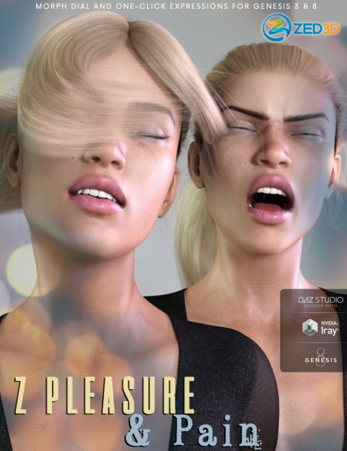 Z Pleasure and Pain - Morph Dial and One-Click Expressions for Genesis 3 and 8