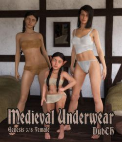 Medieval Underwear for G3F and or G8F
