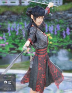 dForce Hanfu Dress for Genesis 8 Female(s)