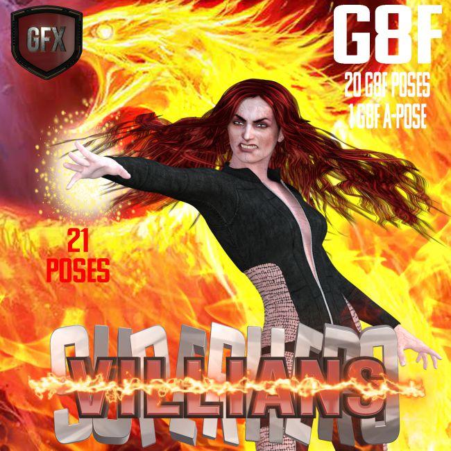 SuperHero Villians for G8F Volume 1