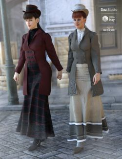 Mid Victorian Outfit Textures for Genesis 8 Female(s)
