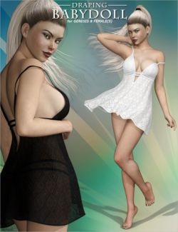 Draping Baby Doll Lingerie for Genesis 8 Female(s)