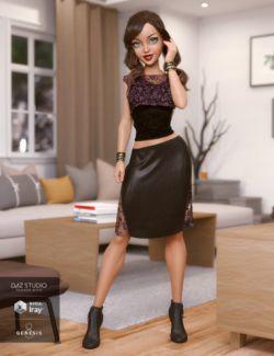 dForce Missfit Outfit for Genesis 8 Female(s)