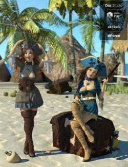 dForce Seven Seas Outfit Textures