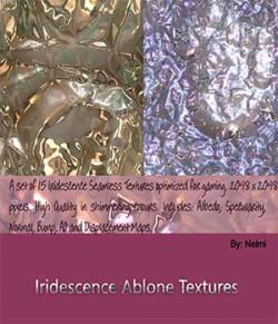 Iridescence Abalone Seamless Textures with Texture Maps - MR