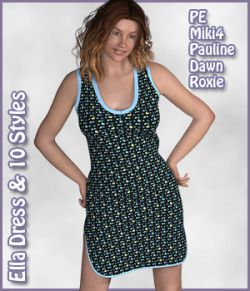 Ella Dress and 10 Styles for PE, Miki 4, Dawn, Pauline and Roxie