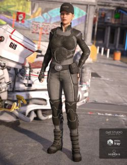 Sci-fi Police Outfit for Genesis 8 Female(s)