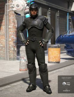 Sci-fi Police Officer Outfit for Genesis 8 Male(s)