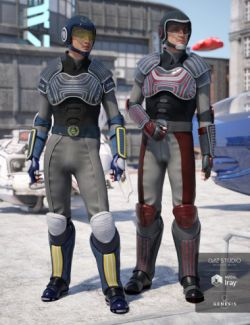 Sci-fi Police Officer Textures for Genesis 8 Male(s)