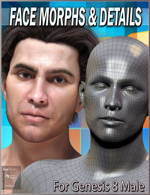 EJ Face Morphs and Details for Genesis 8 Male