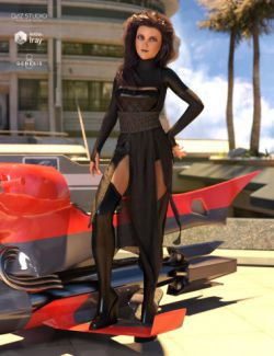 dForce Akemi Outfit for Genesis 8 Female(s)