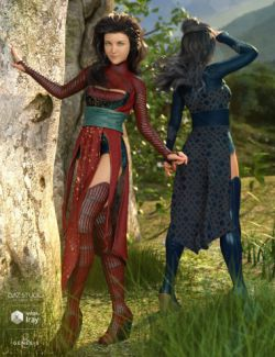 dForce Akemi Outfit Textures