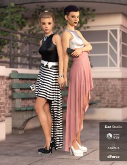 dForce Hi-Low Dress Textures
