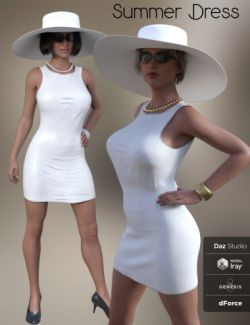 FG dForce Summer Dress for Genesis 8 Female(s)