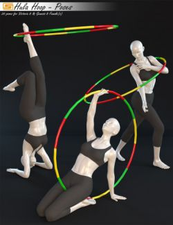 Hula Hoop- Poses for Victoria 8 and Genesis 8 Female(s)