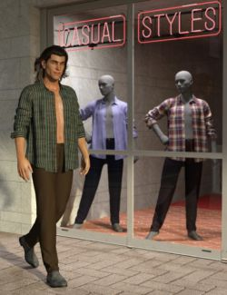 Casual Styles Textures for dForce My Guy Jeans and Shirt